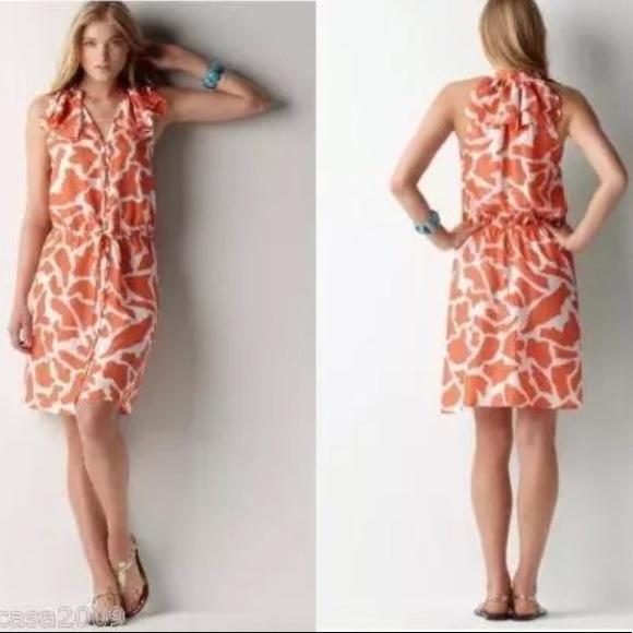 974fb5962f 🔸LAST CHANCE🔸 LOFT Giraffe Print Silk Dress